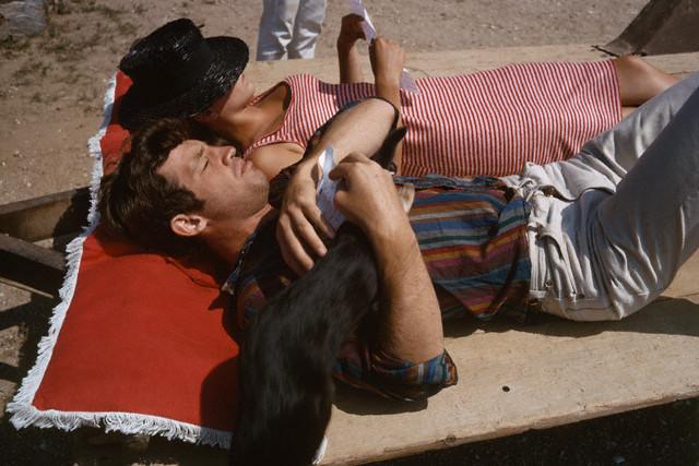 1965, Ile de Porquerolles, France --- On the set of --- Image by © Georges Pierre/Sygma/Corbis